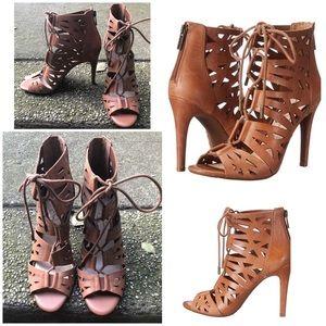 Jessica Simpson Emerita Cut-Out Laced Heels